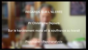 Pr Christophe Dejours - Harcèlement et santé au travail