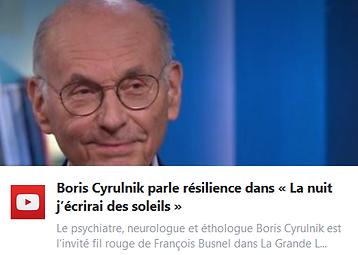 Boris Cyrulnik parle résilience dans « La nuit j'écrirai des soleils »