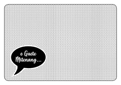 """Papiertischsets """"ä Guätä"""" (6 verschiedene Sujets)"""