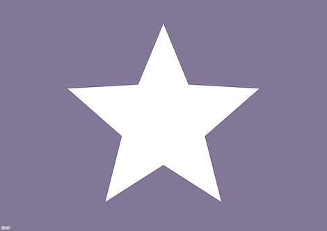 Tischset grosser Stern