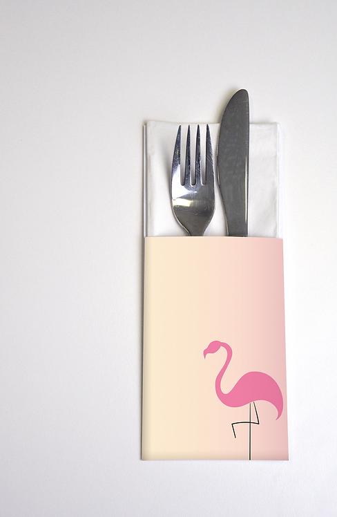 Bestecktaschen Flamingo