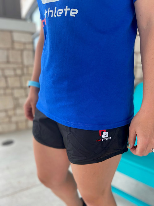 Red Athlete Workout Short