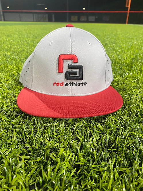 Red Athlete Silver/Red Flexfit Hat
