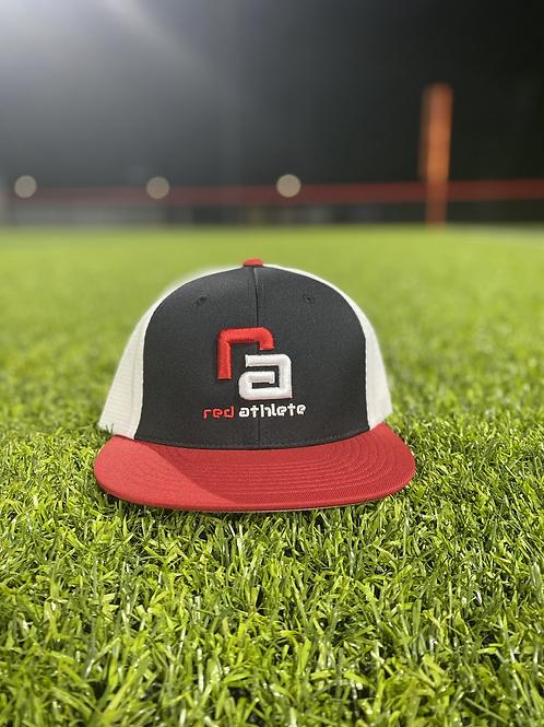 Red Athlete Black/Red/White Flexfit Hat