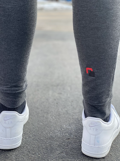 Red Athlete Jogger Pants