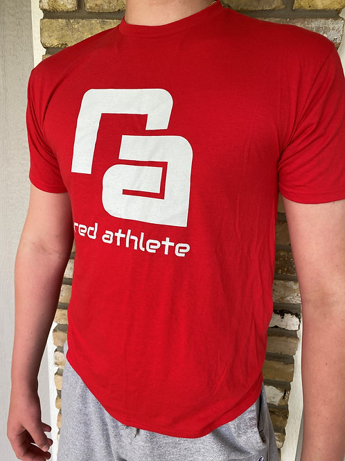 Red Athlete Lifestyle T- Red