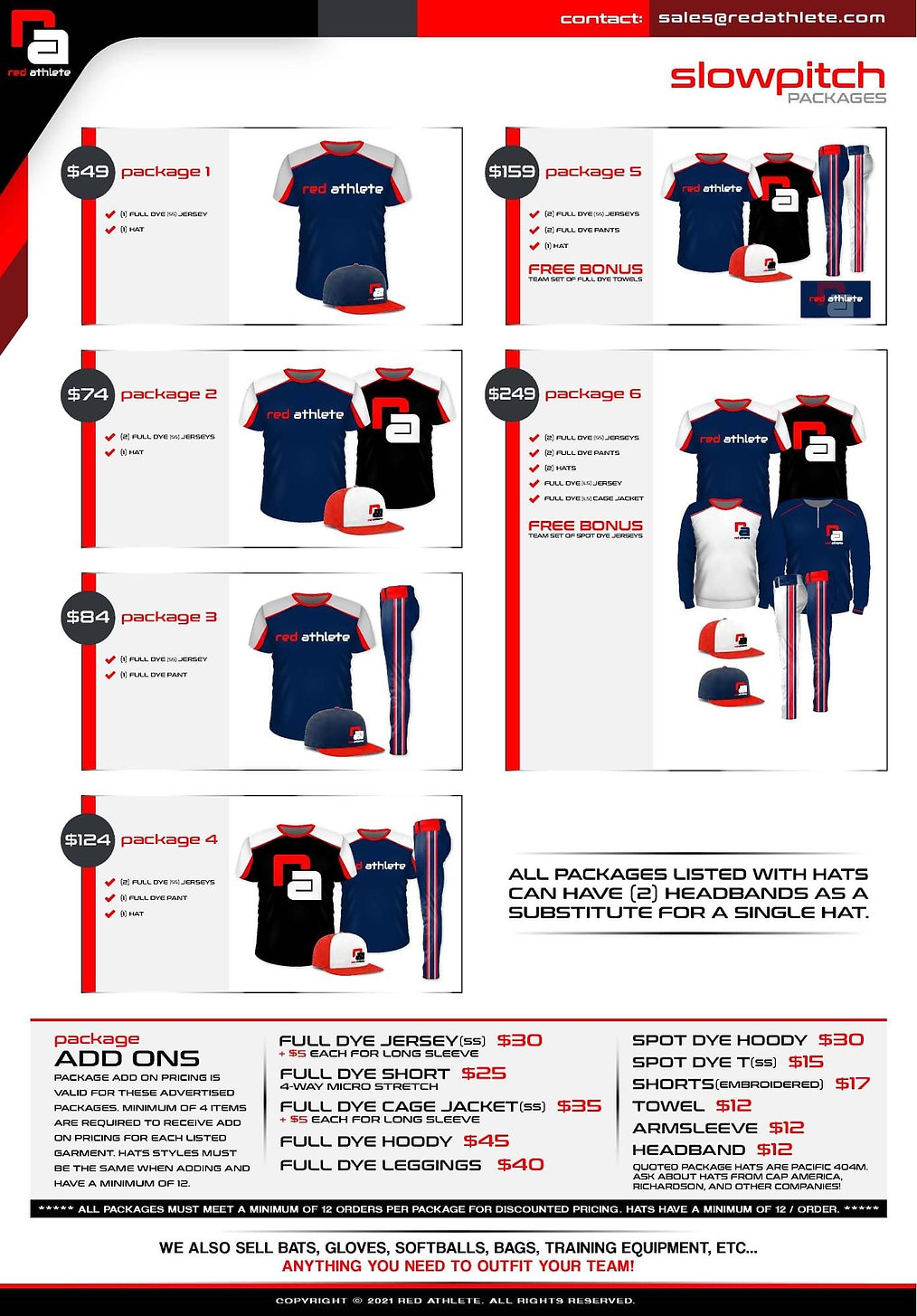 slowpitch sales pacages