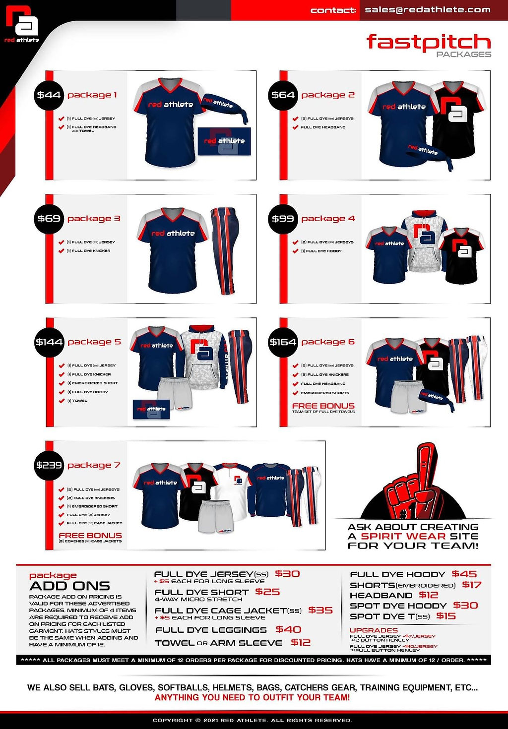 fastpitch uniform sale package