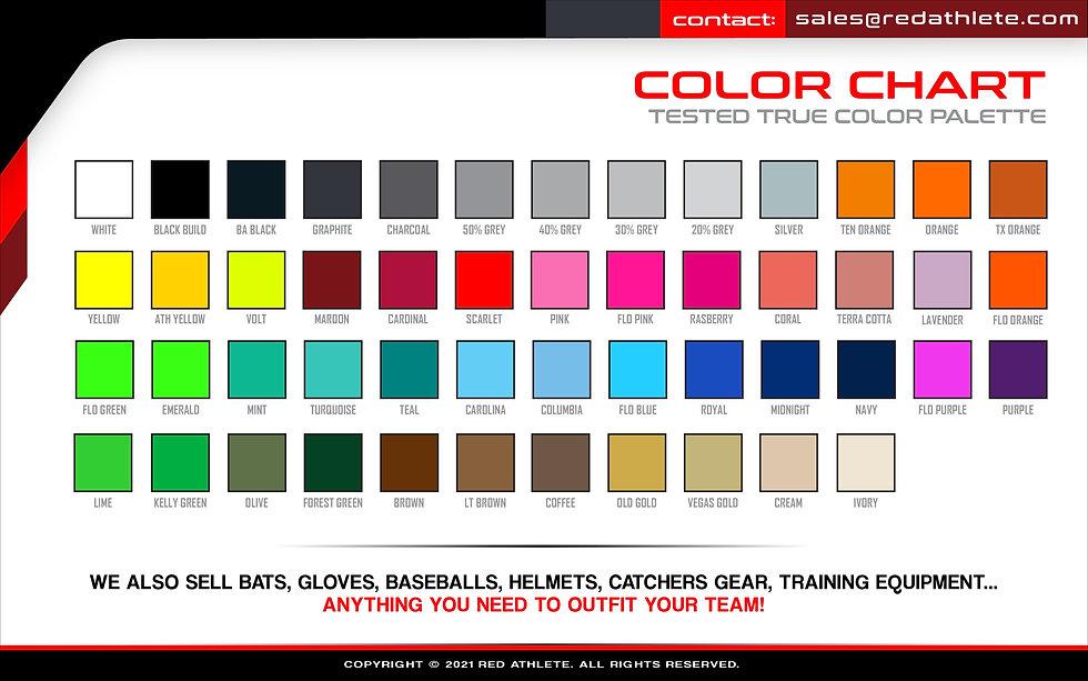 Color Palette Sublimation Colors