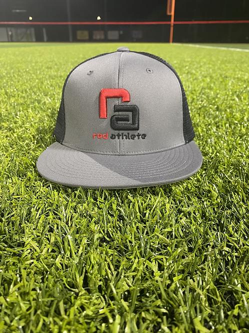 Red Athlete Heather Grey/Black SnapBack Hat