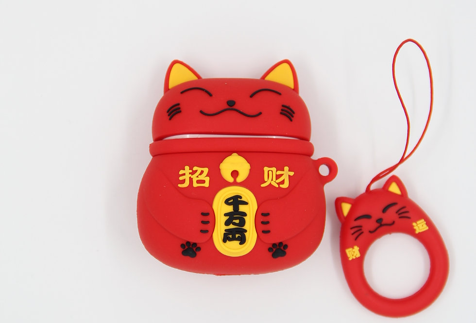 Чехол на AirPods (Lucky Cat)