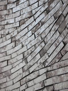 Emaux de verre artisanaux. Décor mural.  crédit photo : Gaspard Mahieu