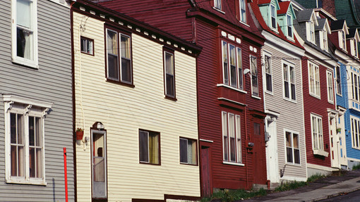 Photo of houses on an uphill