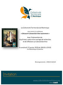 Invitation Conf. L. de Vinci - GUY ERNES