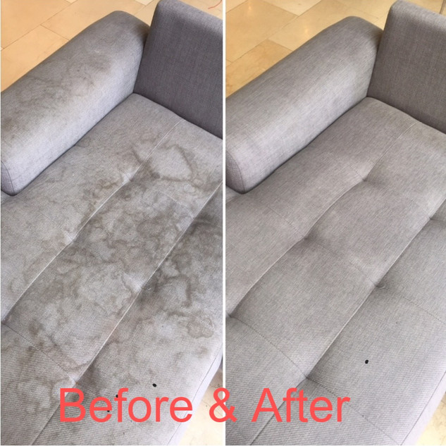 sofa cleaning before & after