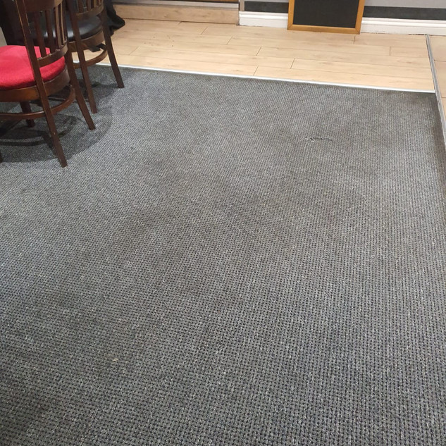 Before commercial carpet cleaning