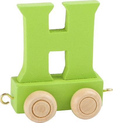 H (Verde) - Tren de letras