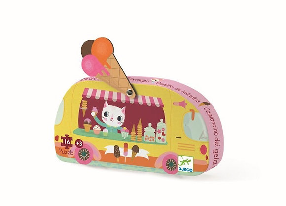 Djeco Silhouette Camión de helados - 16 piezas