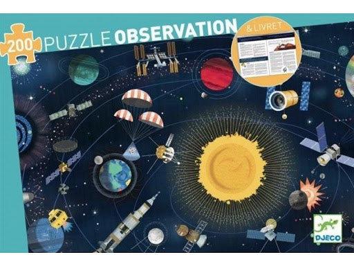 Djeco Observación Puzzle El Espacio - 200 Pieces