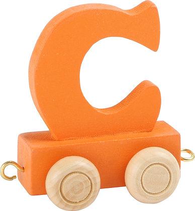 C (Naranja) - Tren de letras