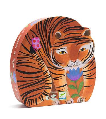 Djeco Silhouette Puzzle El Tigre - 24 Piezas