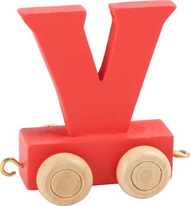 V (Rojo) - Tren de letras