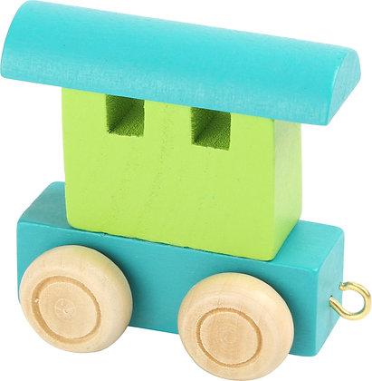 Vagón Verde & Azul - Tren de letras