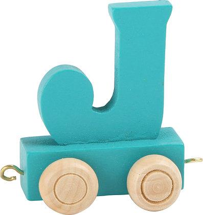 J (Turquesa) - Tren de letras