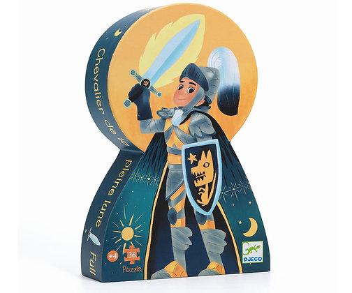 Djeco Silhouette Puzzle El Caballero de la luna llena  - 36 Piezas