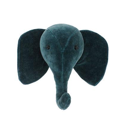 Cabeza de elefante Terciopelo - Teal