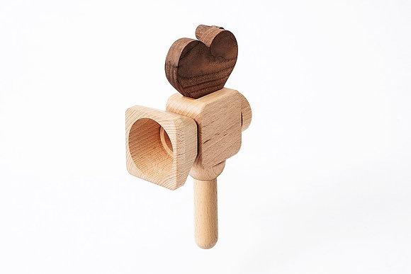 Cámara de mano de juguete de madera Super 16
