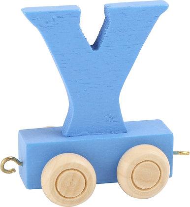 Y (Azul) - Tren de letras