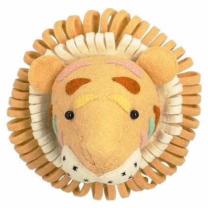 Cabeza de Tigre natural en colores pastel - Mini