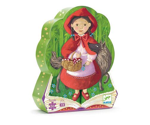 Djeco Silhouette Puzzle Caperucita Roja  - 36 Piezas