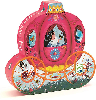Djeco Silhouette Carro Princesa Elisa - 54 Piezas