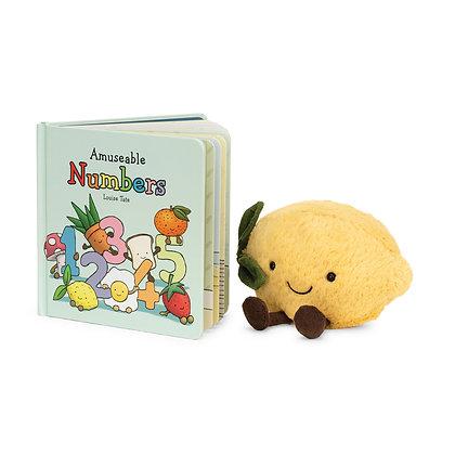 Conjunto Regalo: Jellycat Libro ´Amuseable Numbers´y Peluche limón pequeño