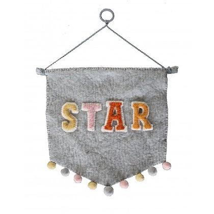 Banderín de pared Pastel 'STAR'