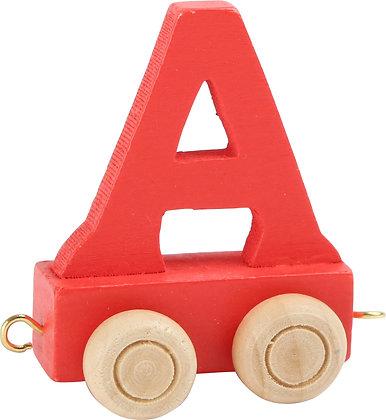 A (Rojo) - Tren de letras