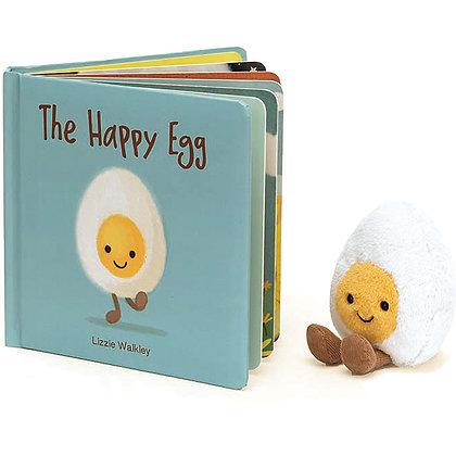 Conjunto Regalo: Jellycat Libro ´The Happy Egg´y Amuseable Huevo
