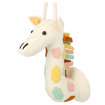 Cabeza de jirafa pastel natural - Mini