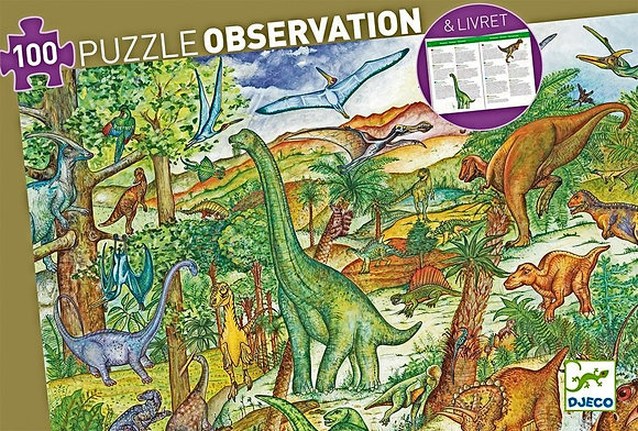 Djeco Observation Puzzle Dinosaurs - 100 Pieces