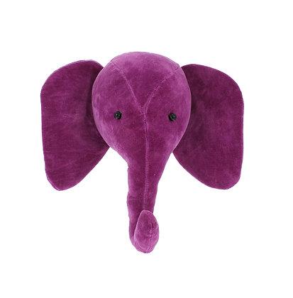 Cabeza de elefante Terciopelo - Fusia
