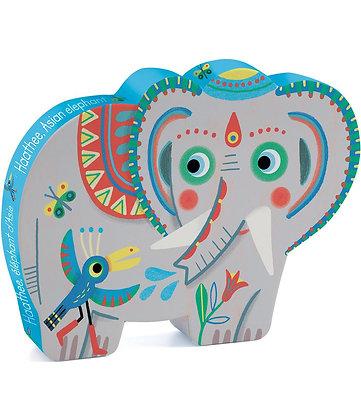 Djeco Silhouette PuzzleHaathe Elefante - 24 Piezas