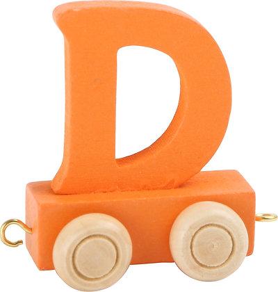 D (Naranja) - Tren de letras