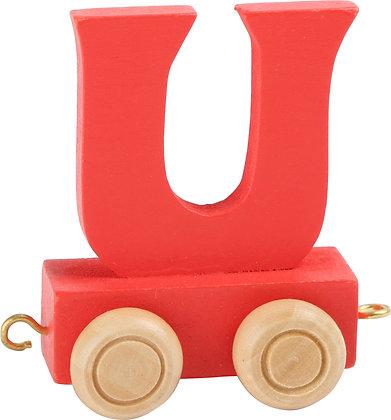 U (Rojo) - Tren de letras