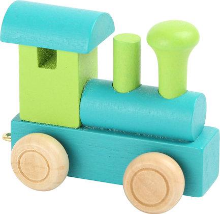 Locomotora Verde & Azul - Tren de letras