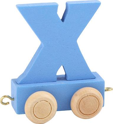 X (Azul) - Tren de letras