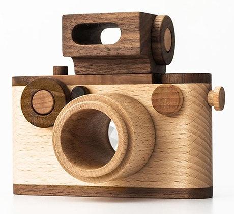 NUEVA Cámara de juguete de madera de estilo vintage de 35 mm