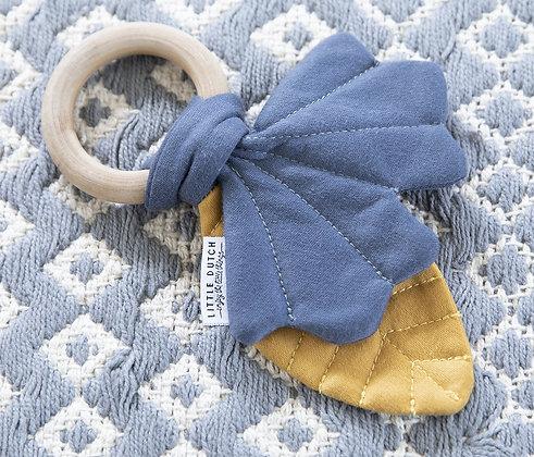 Juguete y Mordedor de Hoja para bebes - Azul