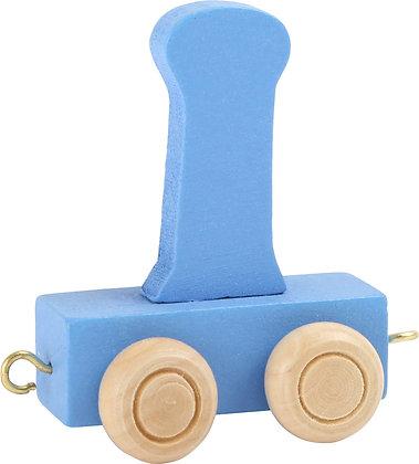 I (Azul) - Tren de letras